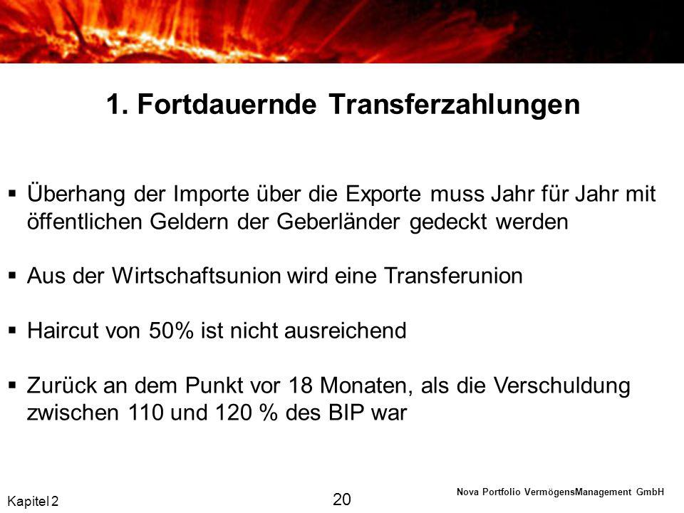 1. Fortdauernde Transferzahlungen