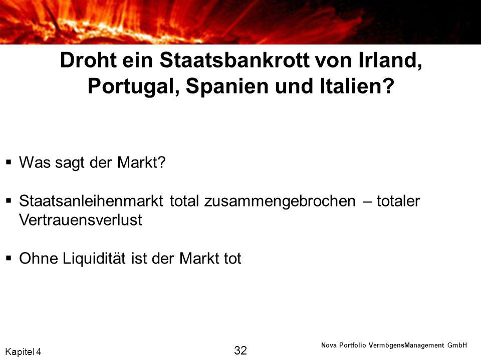 Droht ein Staatsbankrott von Irland, Portugal, Spanien und Italien
