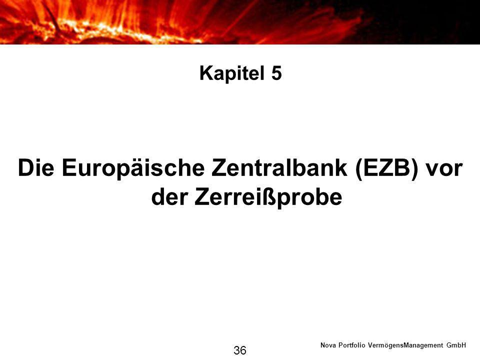 Die Europäische Zentralbank (EZB) vor der Zerreißprobe