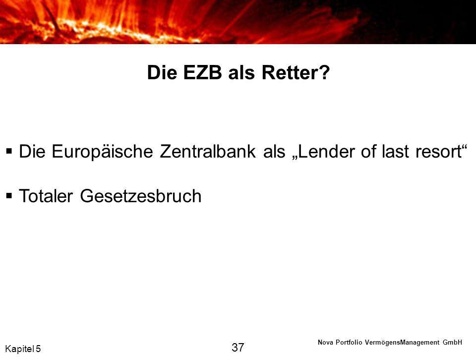 """Die EZB als Retter Die Europäische Zentralbank als """"Lender of last resort Totaler Gesetzesbruch."""