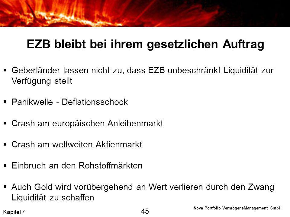 EZB bleibt bei ihrem gesetzlichen Auftrag
