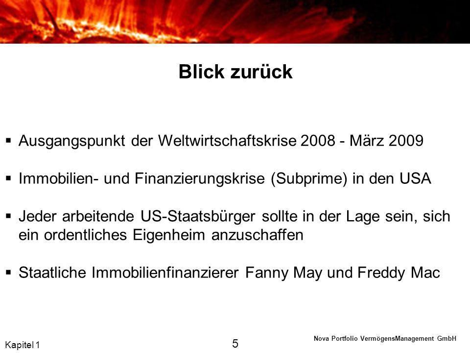 Blick zurück Ausgangspunkt der Weltwirtschaftskrise 2008 - März 2009