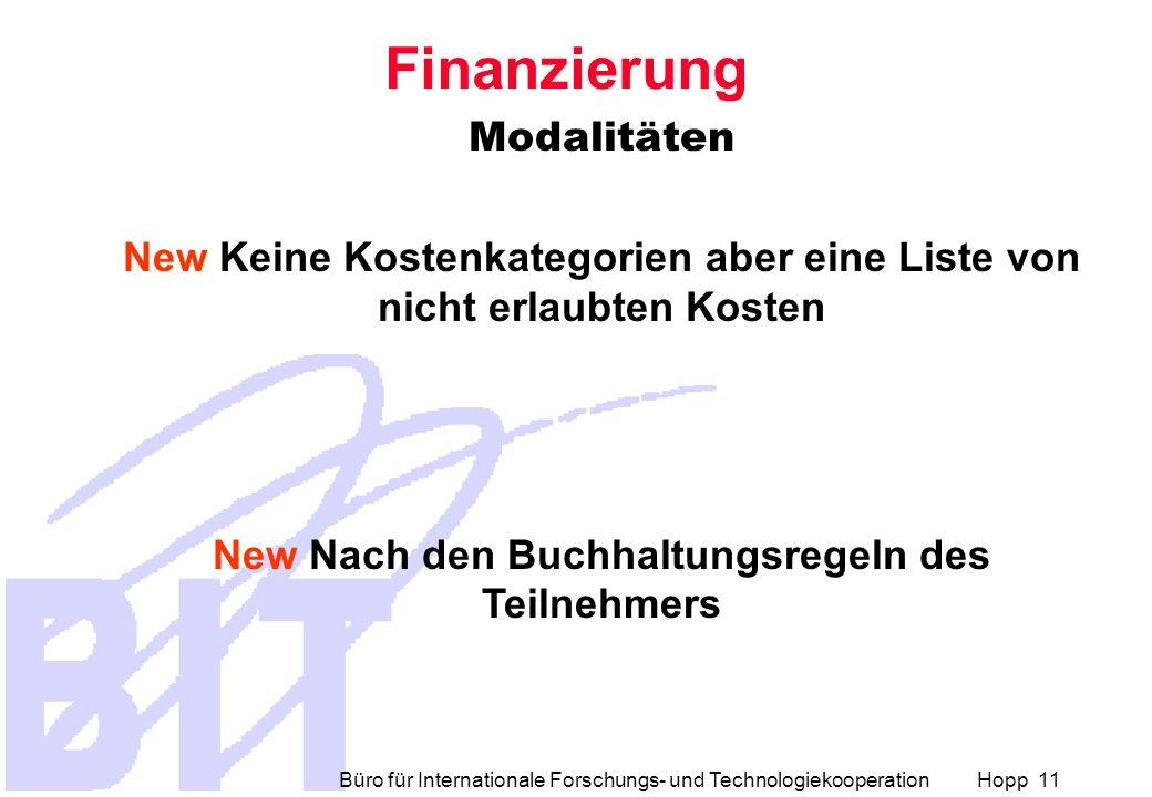Finanzierung Modalitäten