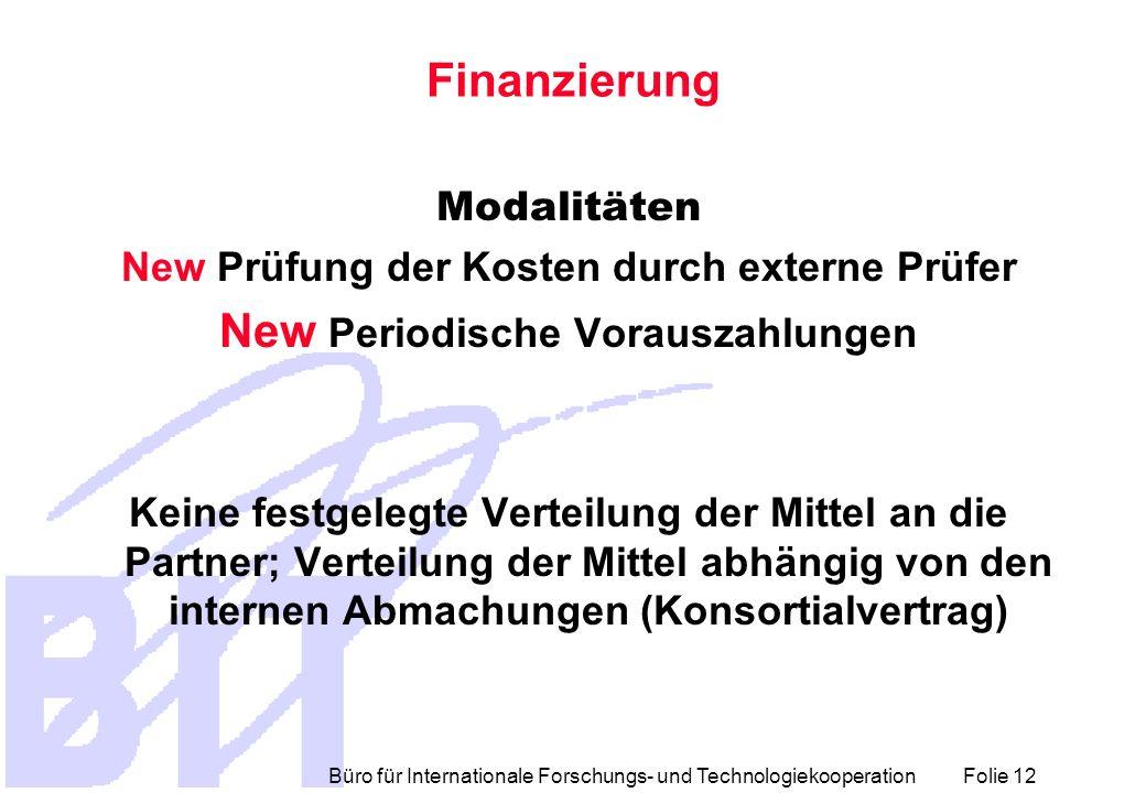 Finanzierung New Periodische Vorauszahlungen