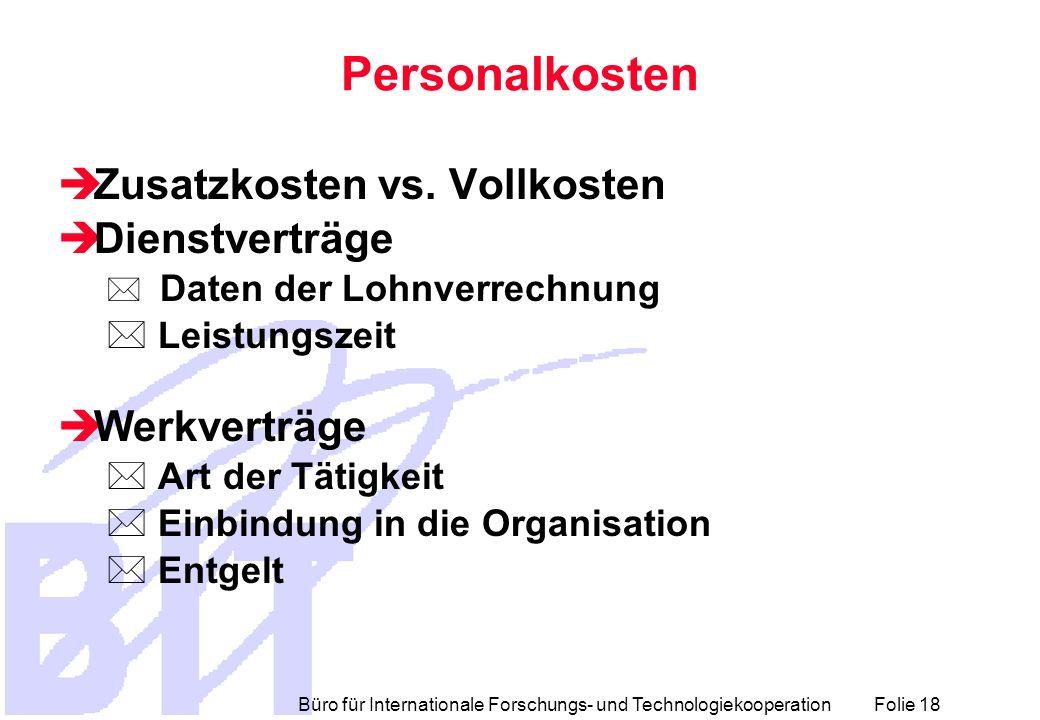 Personalkosten Zusatzkosten vs. Vollkosten Dienstverträge Werkverträge
