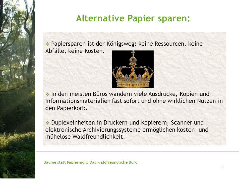 Alternative Papier sparen: