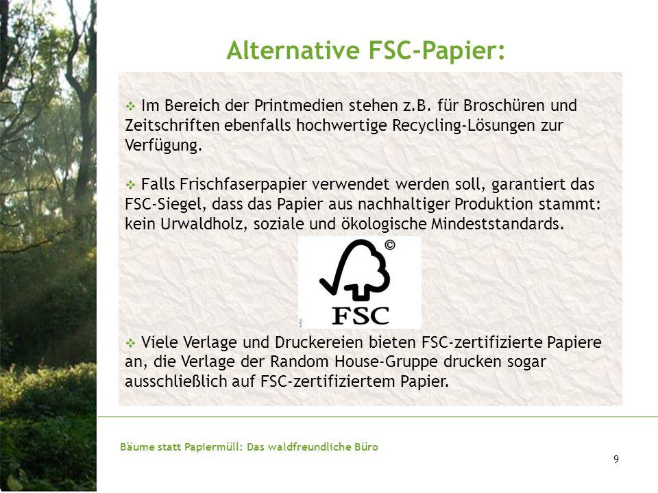 Alternative FSC-Papier: