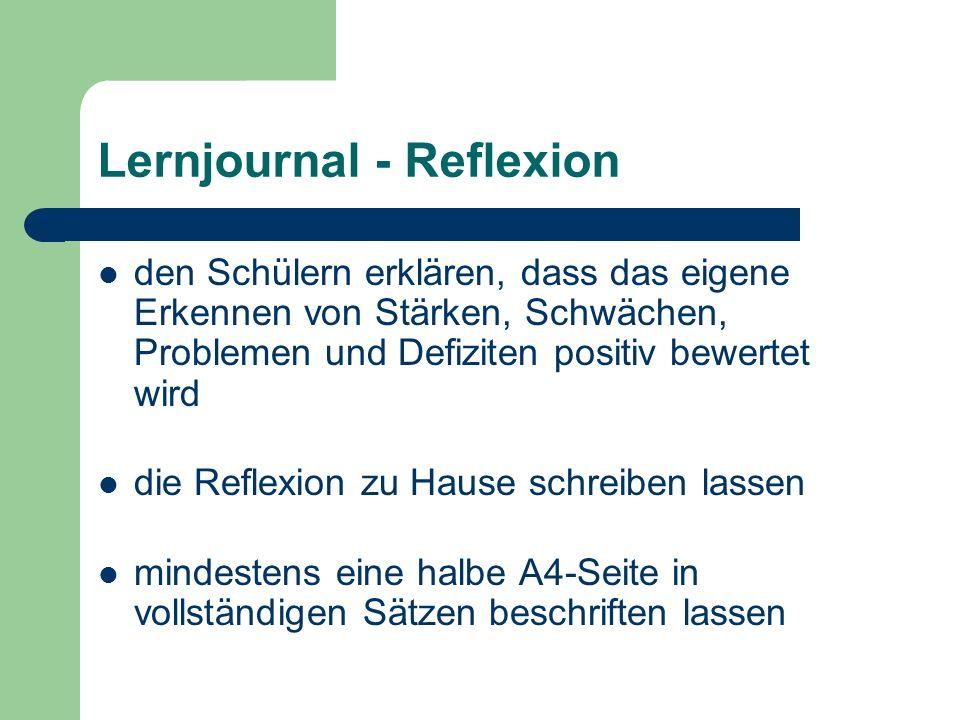 Lernjournal - Reflexion