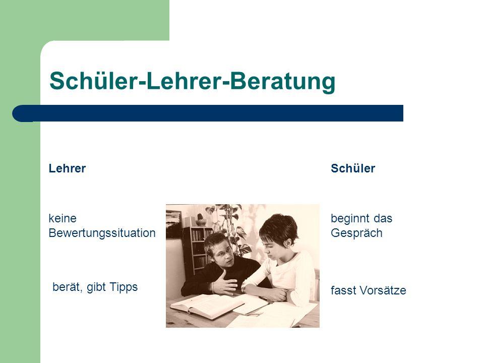Schüler-Lehrer-Beratung