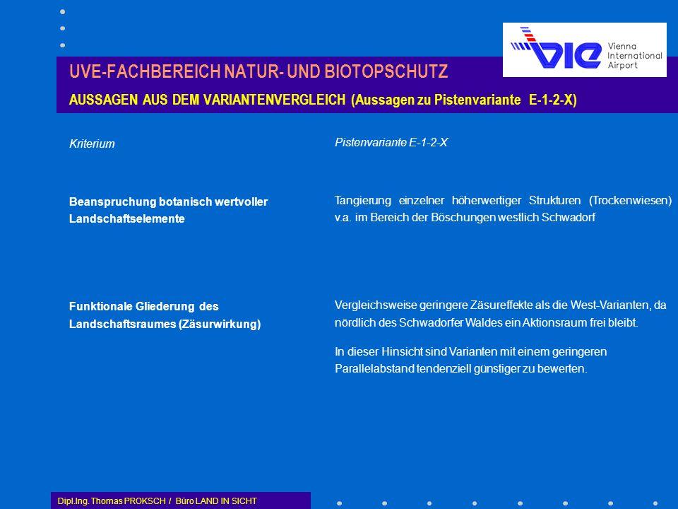 UVE-FACHBEREICH NATUR- UND BIOTOPSCHUTZ AUSSAGEN AUS DEM VARIANTENVERGLEICH (Aussagen zu Pistenvariante E-1-2-X)