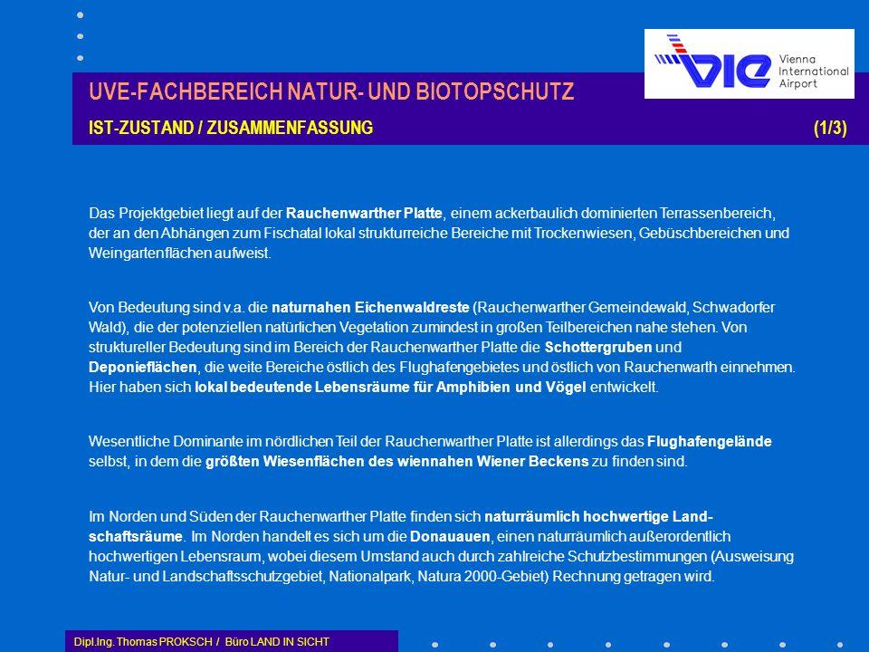 UVE-FACHBEREICH NATUR- UND BIOTOPSCHUTZ IST-ZUSTAND / ZUSAMMENFASSUNG (1/3)