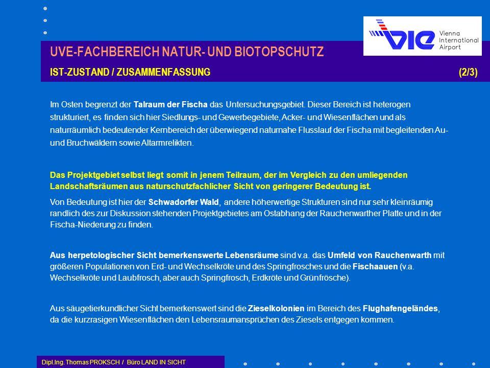 UVE-FACHBEREICH NATUR- UND BIOTOPSCHUTZ IST-ZUSTAND / ZUSAMMENFASSUNG (2/3)