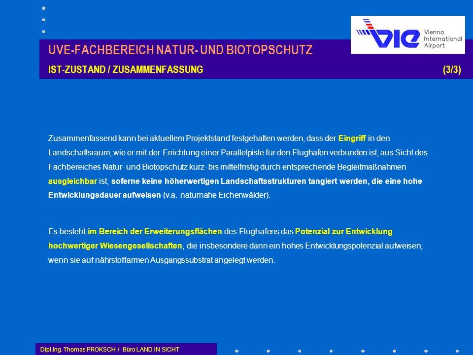UVE-FACHBEREICH NATUR- UND BIOTOPSCHUTZ IST-ZUSTAND / ZUSAMMENFASSUNG (3/3)