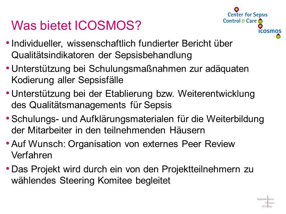 Was bietet ICOSMOS Individueller, wissenschaftlich fundierter Bericht über Qualitätsindikatoren der Sepsisbehandlung.