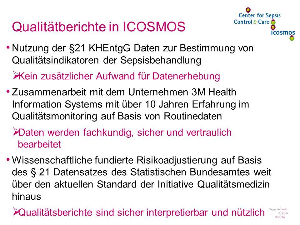 Qualitätberichte in ICOSMOS