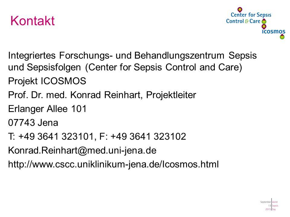 Kontakt Integriertes Forschungs- und Behandlungszentrum Sepsis und Sepsisfolgen (Center for Sepsis Control and Care)