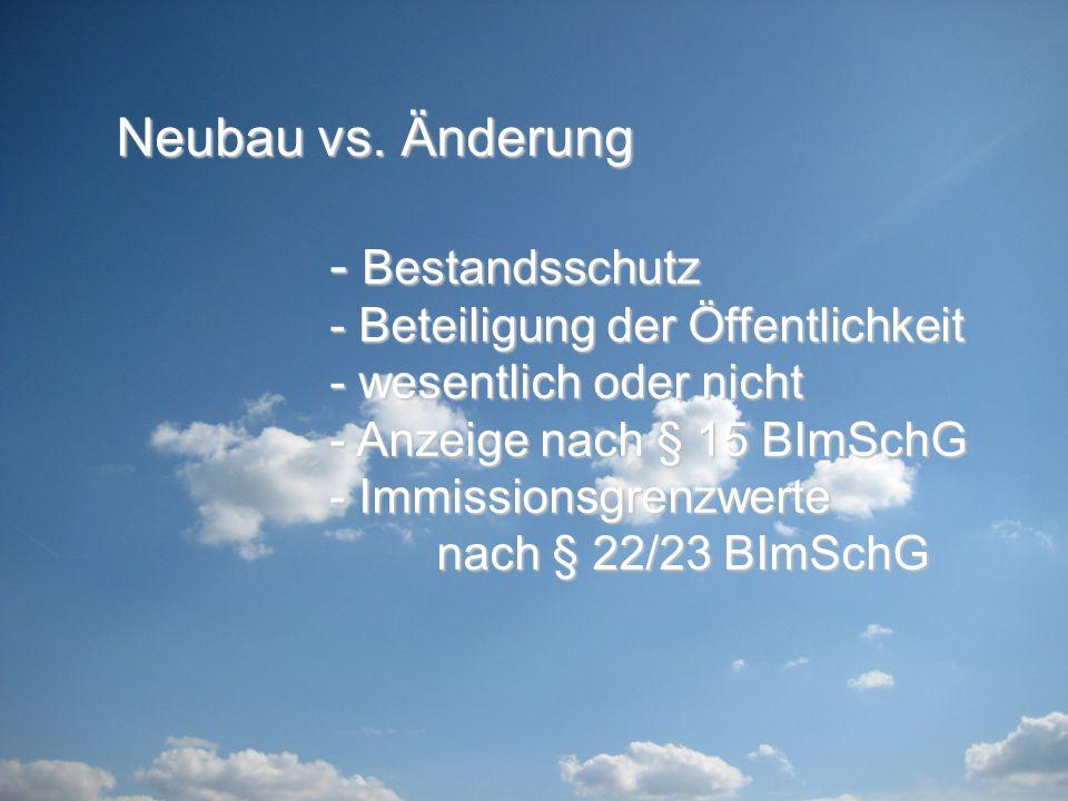 Neubau vs.