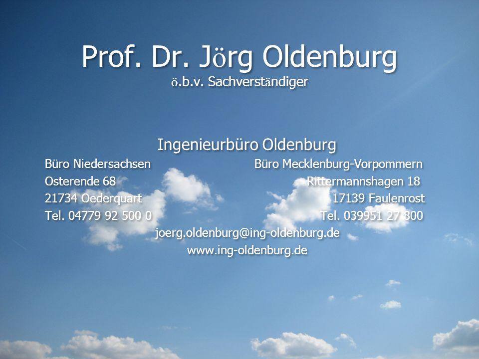 Prof. Dr. Jörg Oldenburg ö.b.v. Sachverständiger