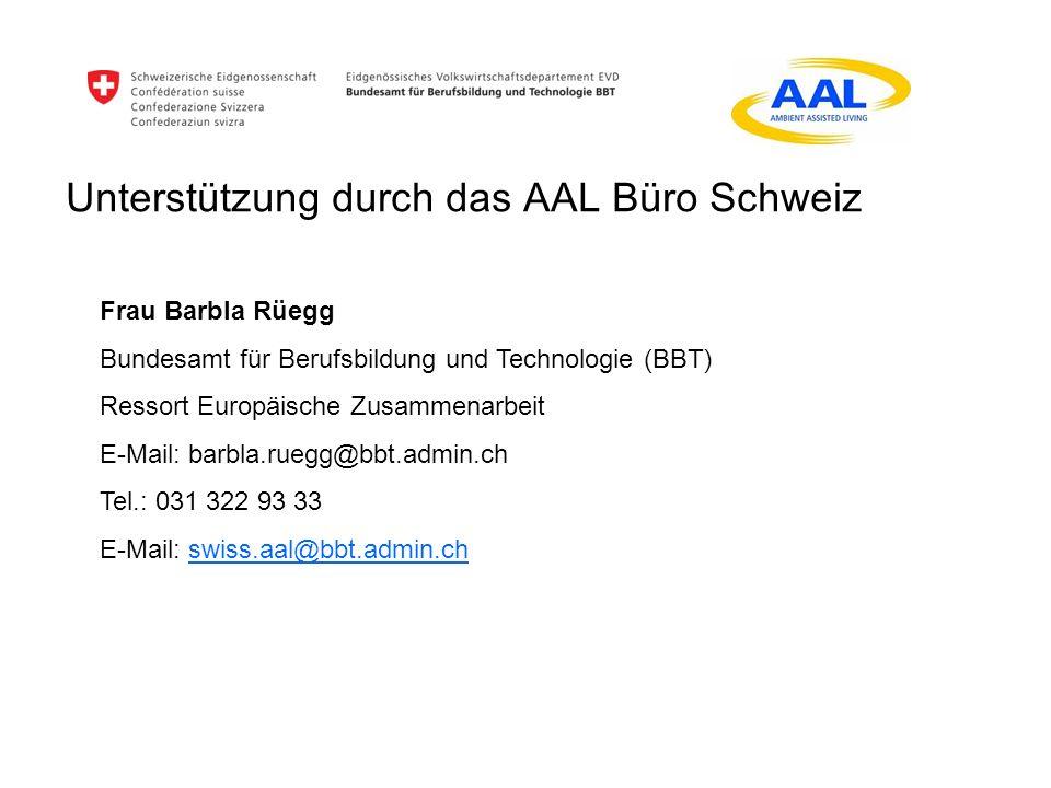 Unterstützung durch das AAL Büro Schweiz