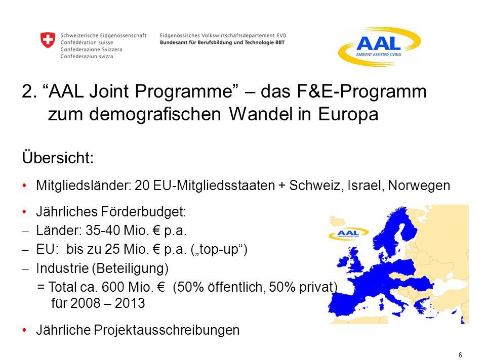 2. AAL Joint Programme – das F&E-Programm