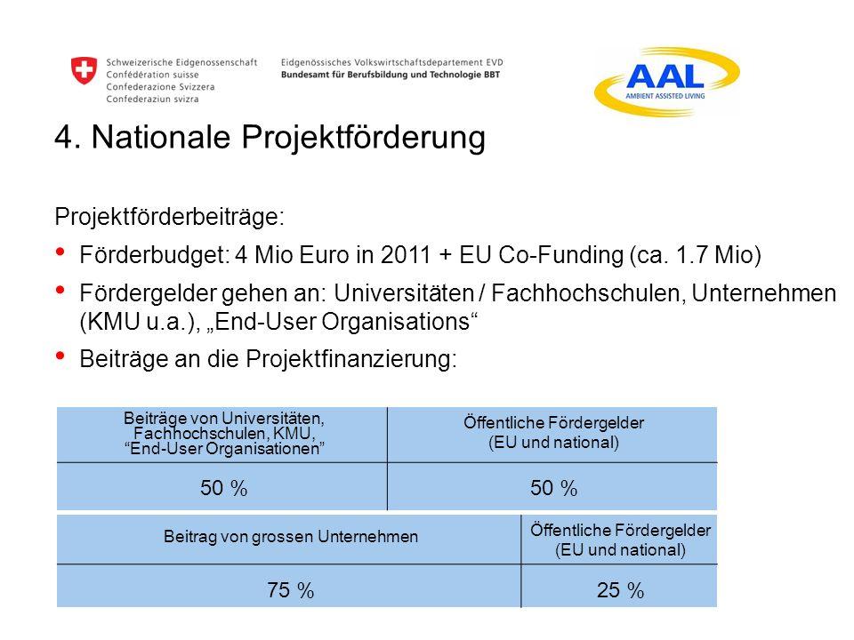 4. Nationale Projektförderung