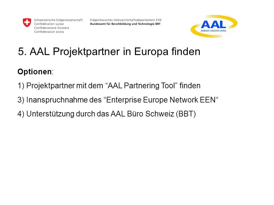 5. AAL Projektpartner in Europa finden
