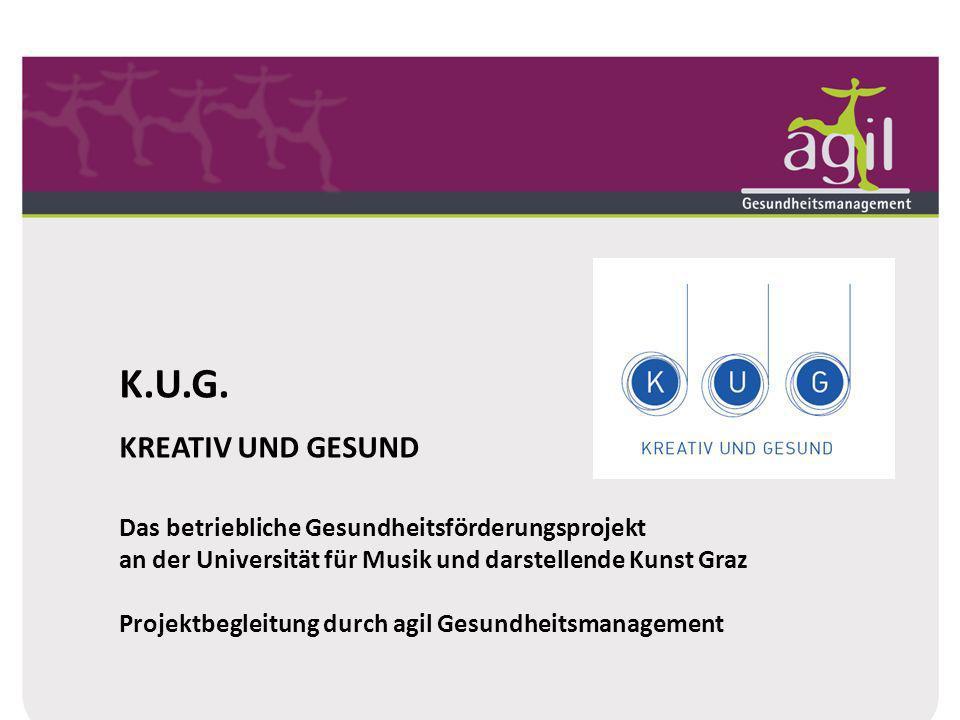 K.U.G. KREATIV UND GESUND. Das betriebliche Gesundheitsförderungsprojekt. an der Universität für Musik und darstellende Kunst Graz.