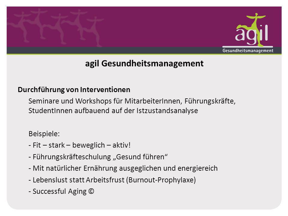 agil Gesundheitsmanagement