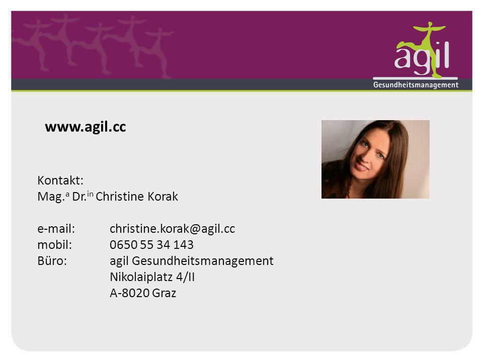 www.agil.cc Kontakt: Mag.a Dr.in Christine Korak