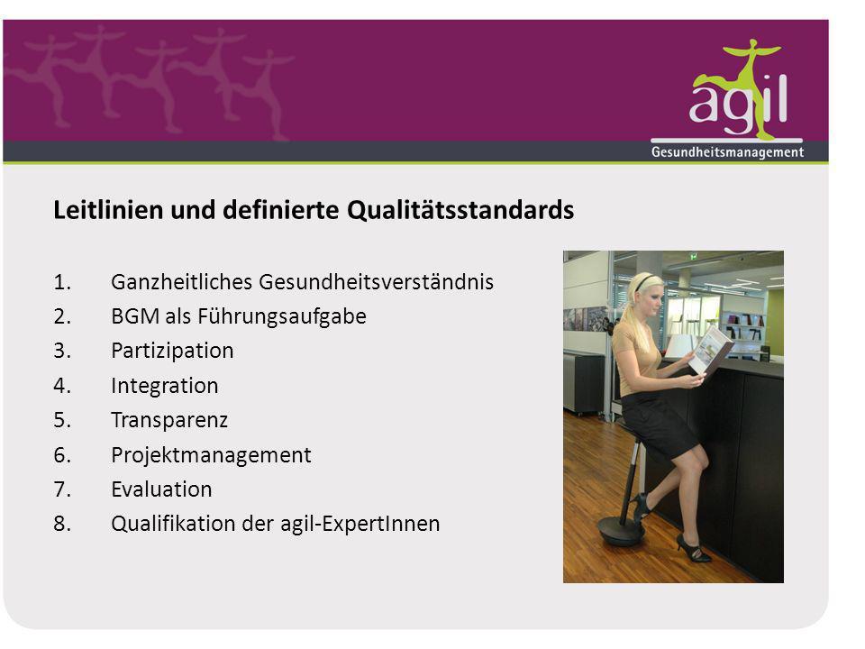 Leitlinien und definierte Qualitätsstandards