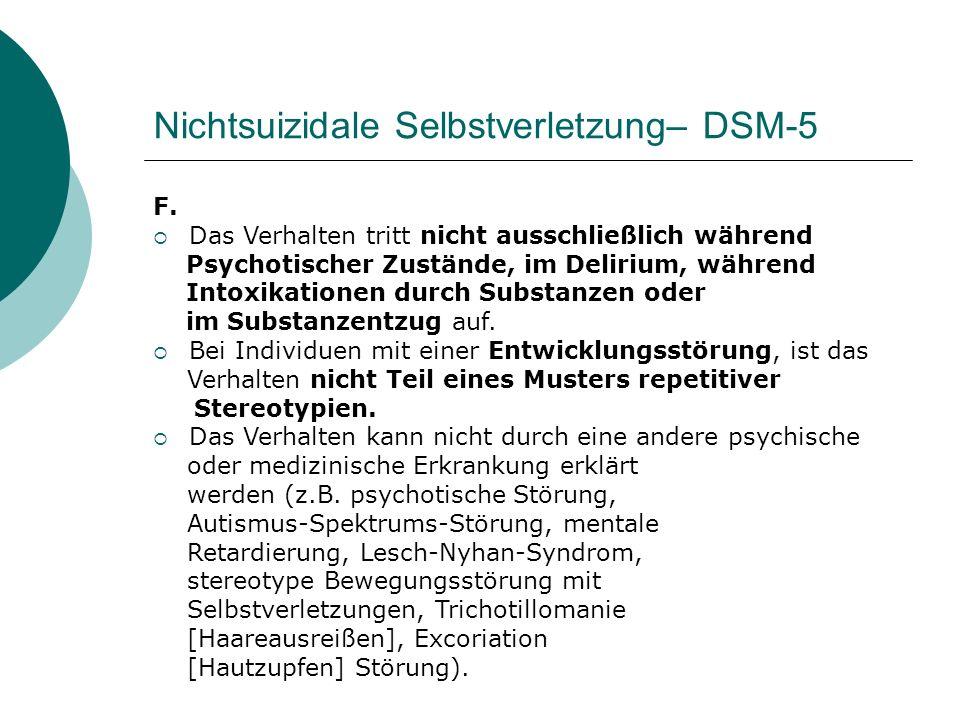 Nichtsuizidale Selbstverletzung– DSM-5