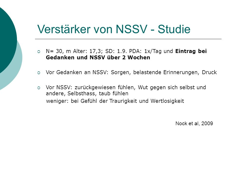 Verstärker von NSSV - Studie