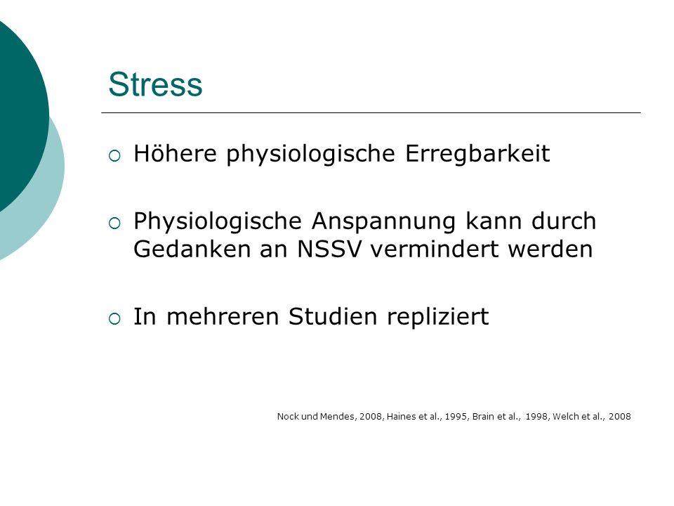 Stress Höhere physiologische Erregbarkeit