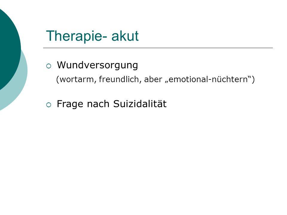 Therapie- akut Wundversorgung