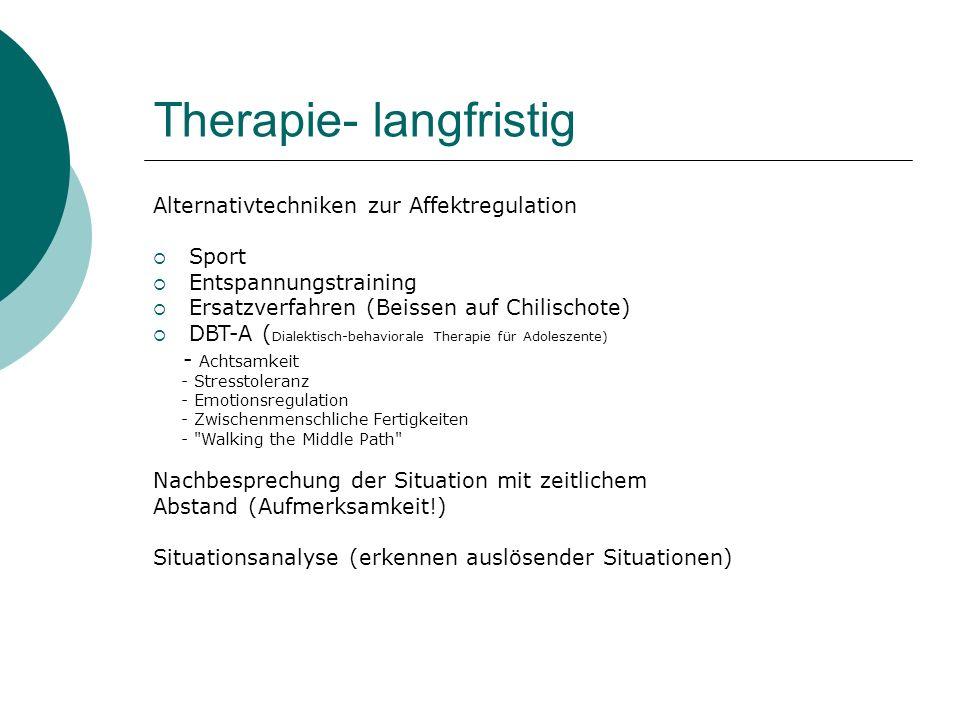 Therapie- langfristig