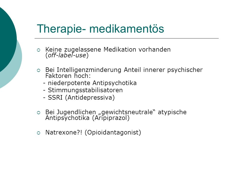Therapie- medikamentös