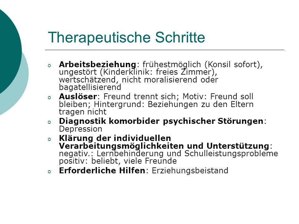 Therapeutische Schritte