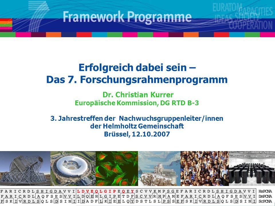 Erfolgreich dabei sein – Das 7. Forschungsrahmenprogramm Dr