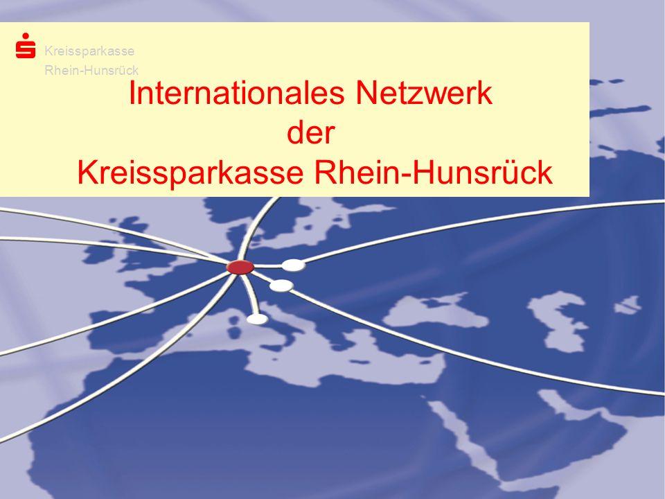 Internationales Netzwerk der Kreissparkasse Rhein-Hunsrück