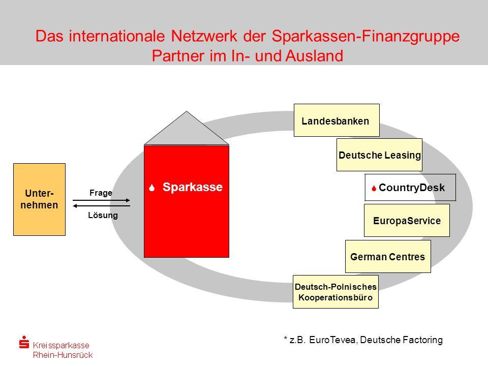 Das internationale Netzwerk der Sparkassen-Finanzgruppe