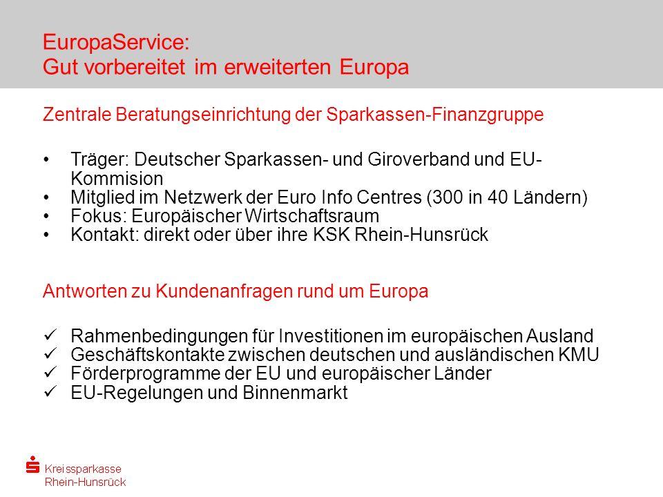 EuropaService: Gut vorbereitet im erweiterten Europa
