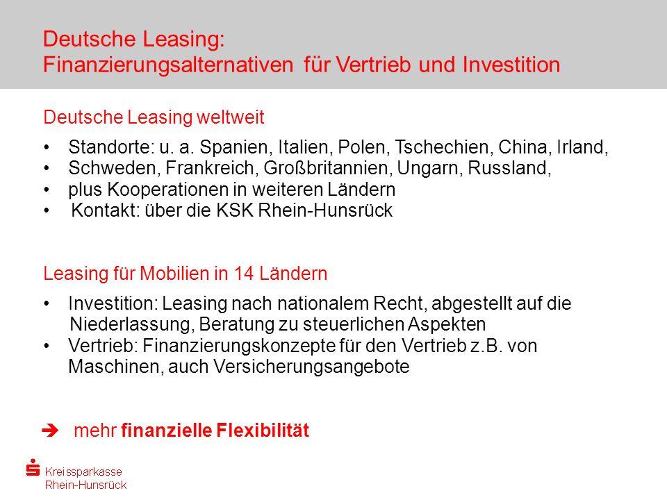 Deutsche Leasing: Finanzierungsalternativen für Vertrieb und Investition