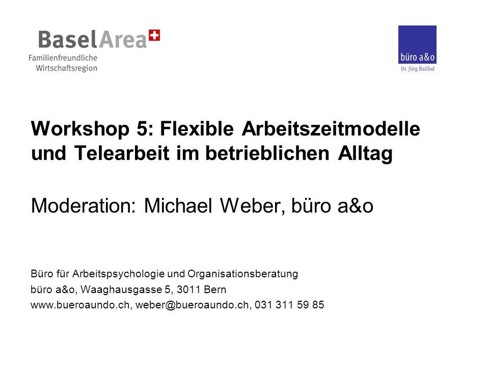 Moderation: Michael Weber, büro a&o