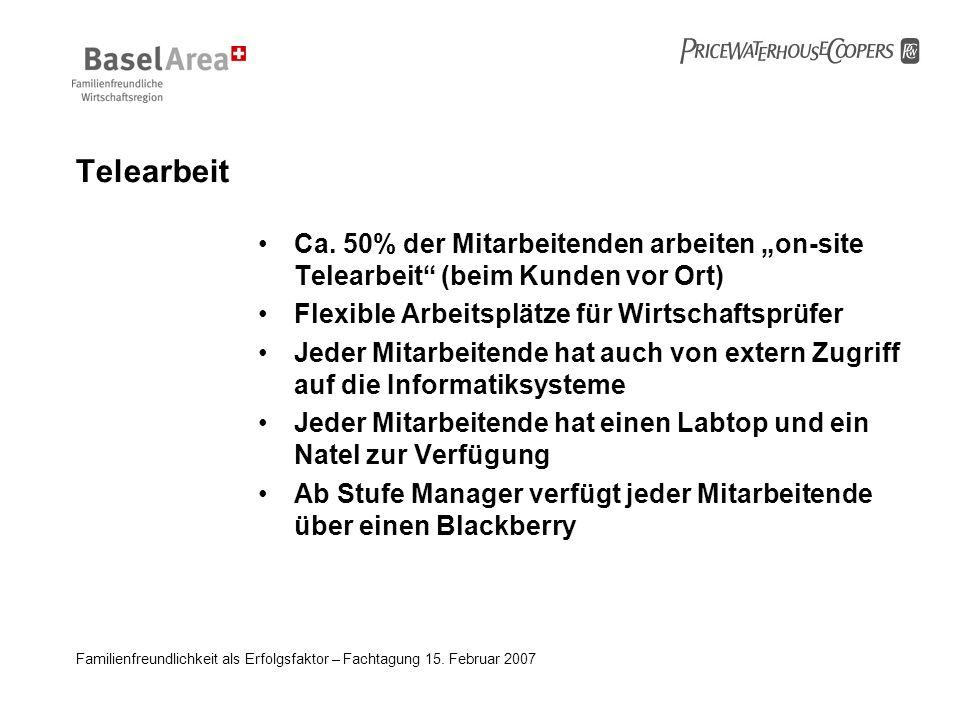 """Telearbeit Ca. 50% der Mitarbeitenden arbeiten """"on-site Telearbeit (beim Kunden vor Ort) Flexible Arbeitsplätze für Wirtschaftsprüfer."""