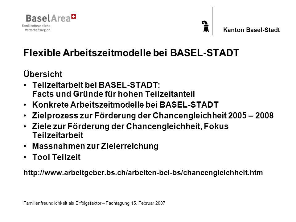 Flexible Arbeitszeitmodelle bei BASEL-STADT