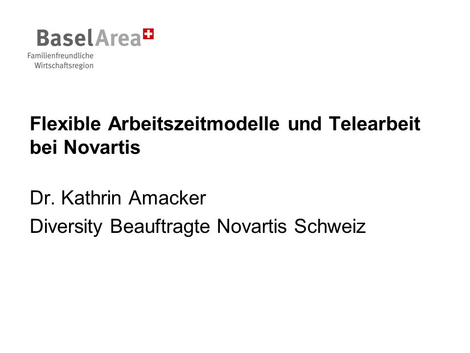 Flexible Arbeitszeitmodelle und Telearbeit bei Novartis