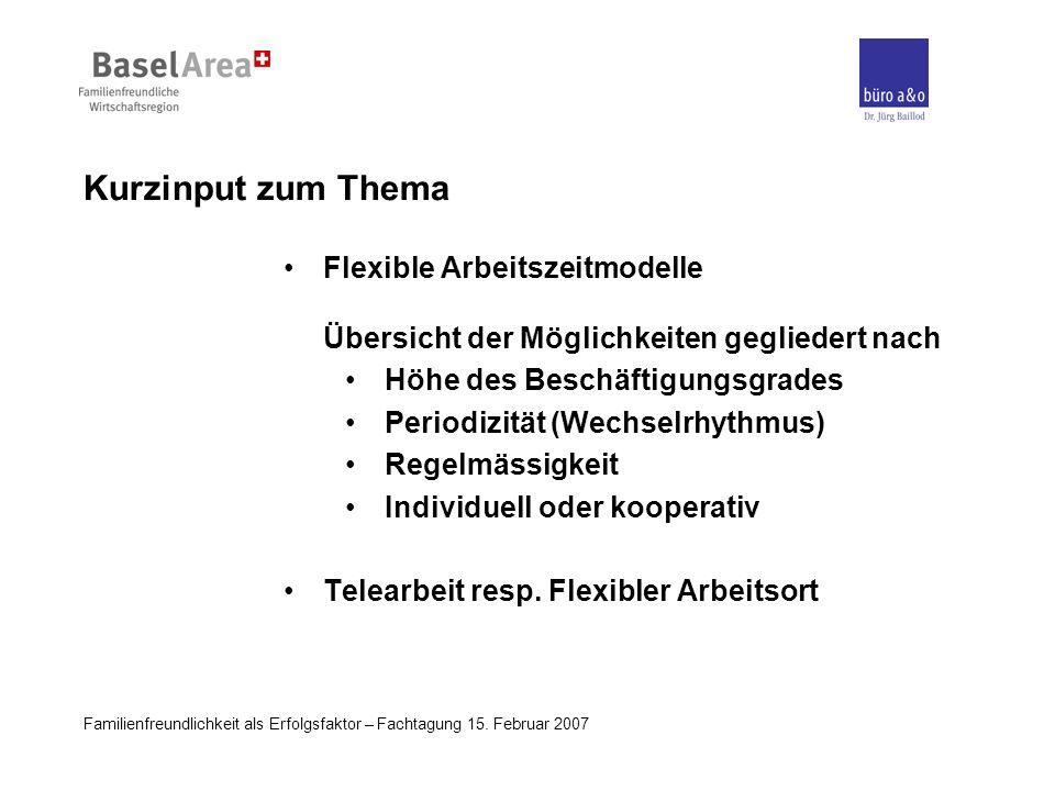 Kurzinput zum Thema Flexible Arbeitszeitmodelle Übersicht der Möglichkeiten gegliedert nach. Höhe des Beschäftigungsgrades.