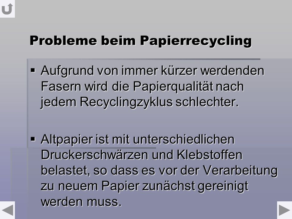 Probleme beim Papierrecycling