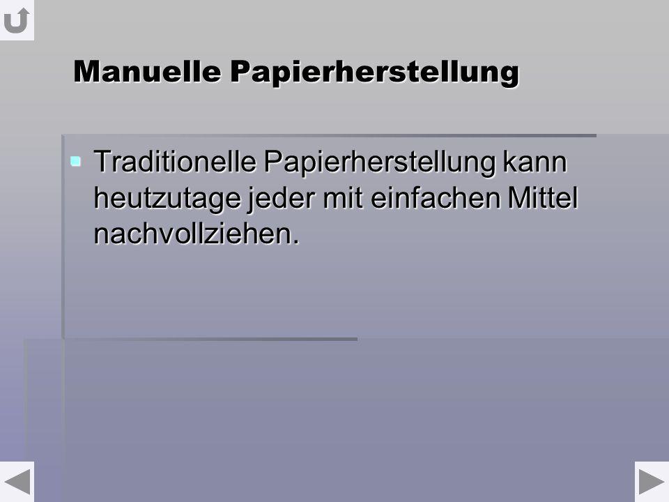 Manuelle Papierherstellung