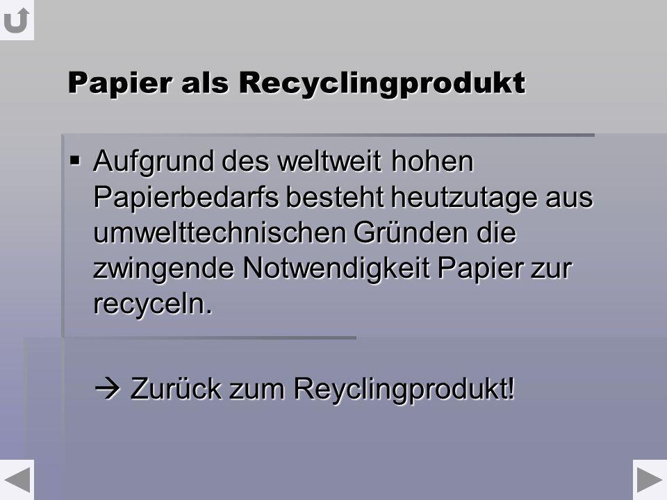 Papier als Recyclingprodukt